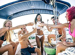A melhor festa não foi no barco...